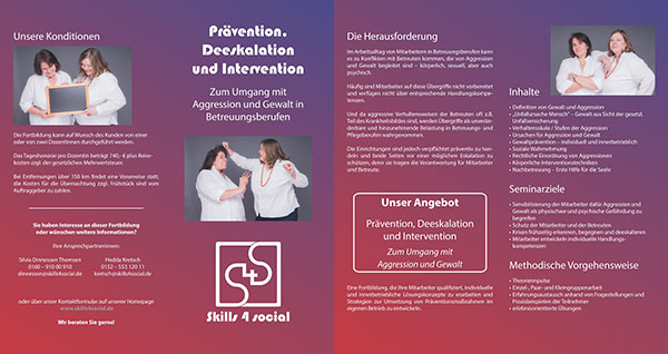 skills4social Flyer Praevention. Deeskalation, Intervention